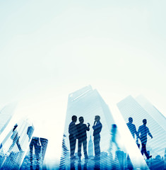 Corporate Business People Office Buliding Concept