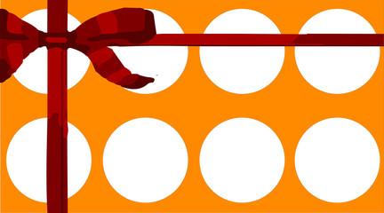 cartão laranja