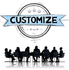 Customize Organization Management Change Meeting Concept