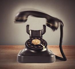 Ringing vintage phone