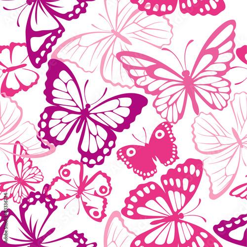 fototapeta na ścianę Jednolite wzór z motyli