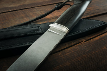 details of the hunting knife
