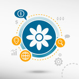 Pictograph of flower poster
