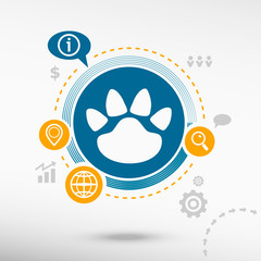 Paw, web icon
