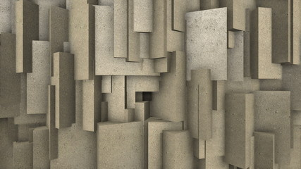 Motion background with sand blocks.