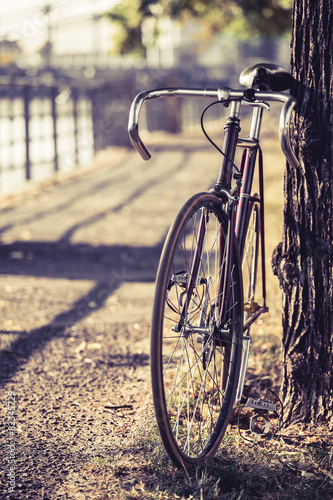 Staande foto Fiets Bike road fixed gear bicycle