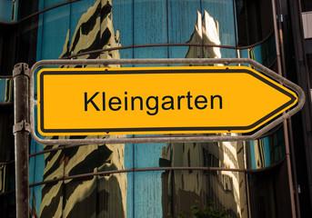 Strassenschild 42 - Kleingarten
