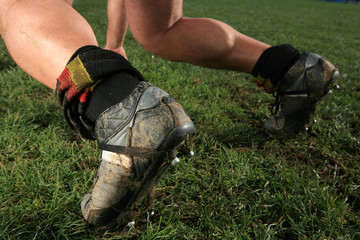 Scarpe giocatore di rugby
