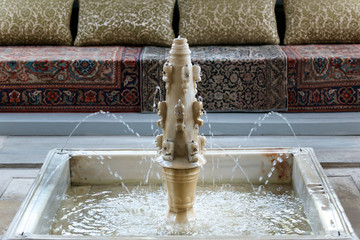 Marble fountain in Summer Pavilio, Khan's Palace, Bakhchisaray