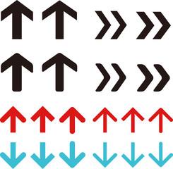 シンプルな矢印のセット