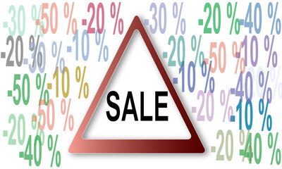 sale and percentage
