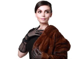 lady in a fur coat