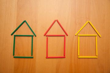 house symbol building blocks