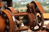 Meccanismo arrugginito impianto industriale
