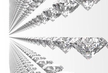 perfect diamonds isolated on white