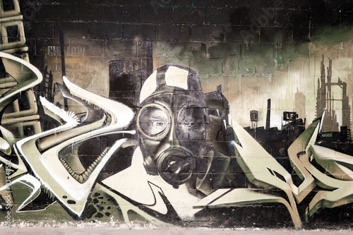 Aluminium Graffiti graffiti wall in an abandoned factory building