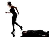 woman dead body  criminal investigations  silhouette