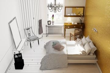 CAD Raumplanung für Schlafzimmer
