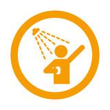 Icono redondo ducha naranja