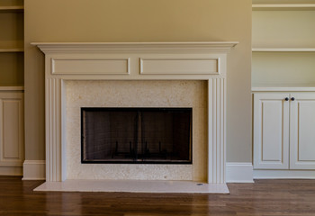 Marble Fireplace in New Home