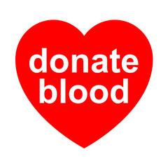 Icono texto donate blood en corazon