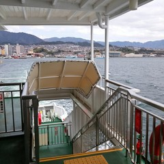 In the ferry