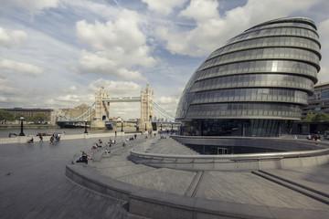 Thames River scene in London