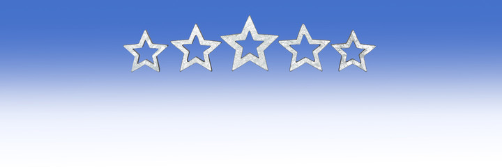 5 stars wide size copyspace