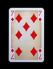 Spielkarten - Gothia - Karo Sieben aus der Ritterzeit