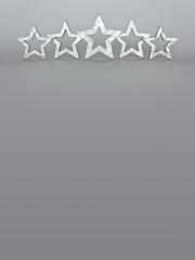 5 stars grey copy space