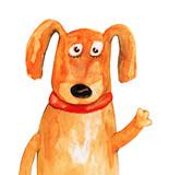 Fototapety Dog. Watercolor