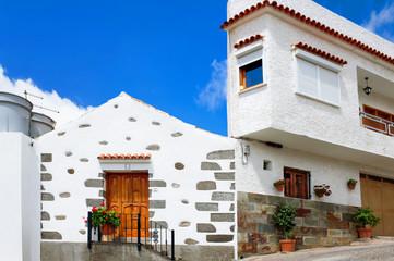 Scenic houses of San Bartolome de Tirajana. Gran Canaria, Canar