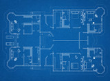 Fototapety Apartment Blueprint