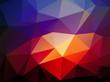 dark blue light red triangular background