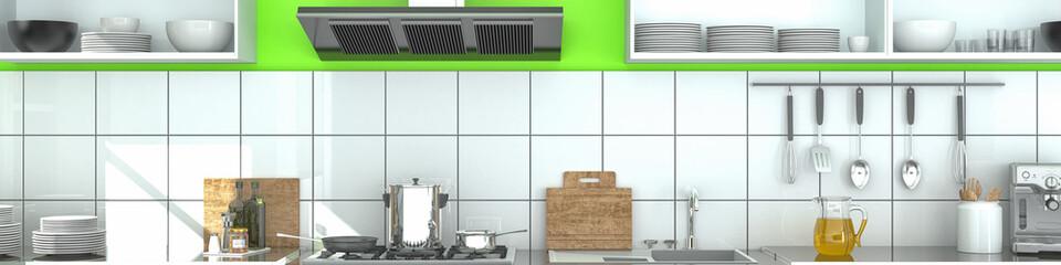 modern kitchen panorama - shot 1