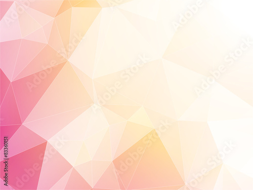 Poszter modern light pastel triangular background