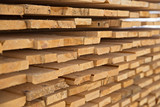 Wooden timber at a sawmill - 83360320