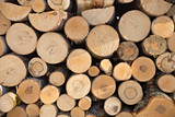Wooden timber at a sawmill - 83360390