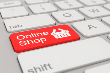 keyboard - online shop - red