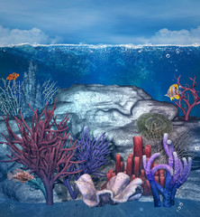 Underwater corals background