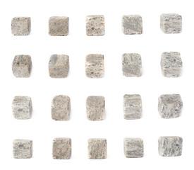 Set of five whiskey granite stones
