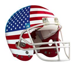 Flagged USA American football helmet