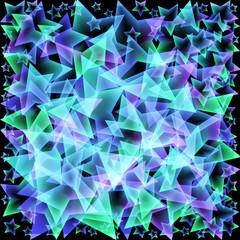 Vektor Hintergrund - Sterne - blau - grün