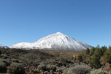Teide nevado, Tenerife.