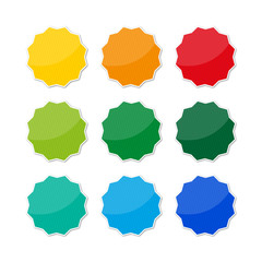 Button Set farbig gestreift – Störer