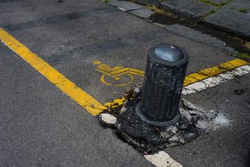 Dissuasore posteggio parcheggio, Arredo Urbano