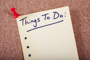 Things To Do List