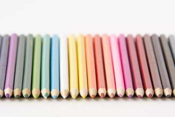 A set of color pencils