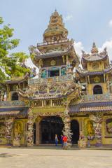Chua Linh Phuoc temple in dalat city Vietnam