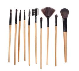 Make up brushes, isolated on white - Stock image